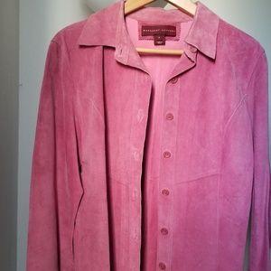 Margaret Godfrey Genuine Leather Pink Jacket